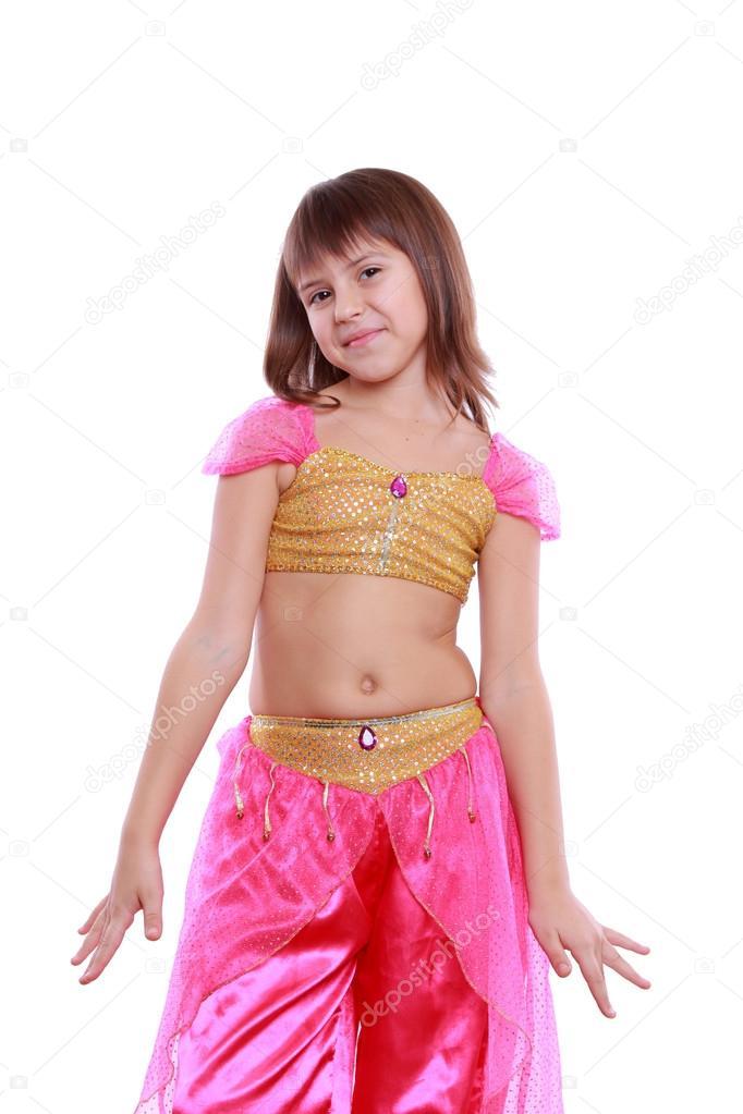 14cc1e260 Arabic belly-dancer wearing pink dress — Stock Photo © Mari1Photo ...