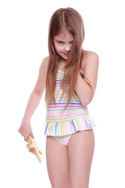 Little girl in swimsuit