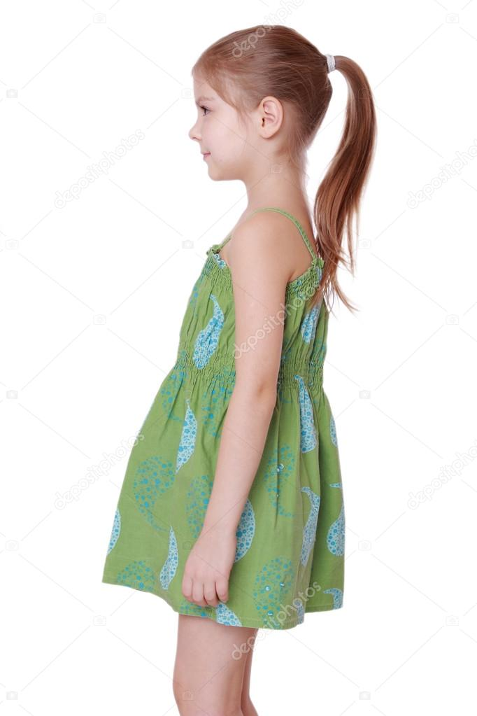 Awe Inspiring Cute Little Girl With Hairstyle Ponytails Stock Photo Natural Hairstyles Runnerswayorg