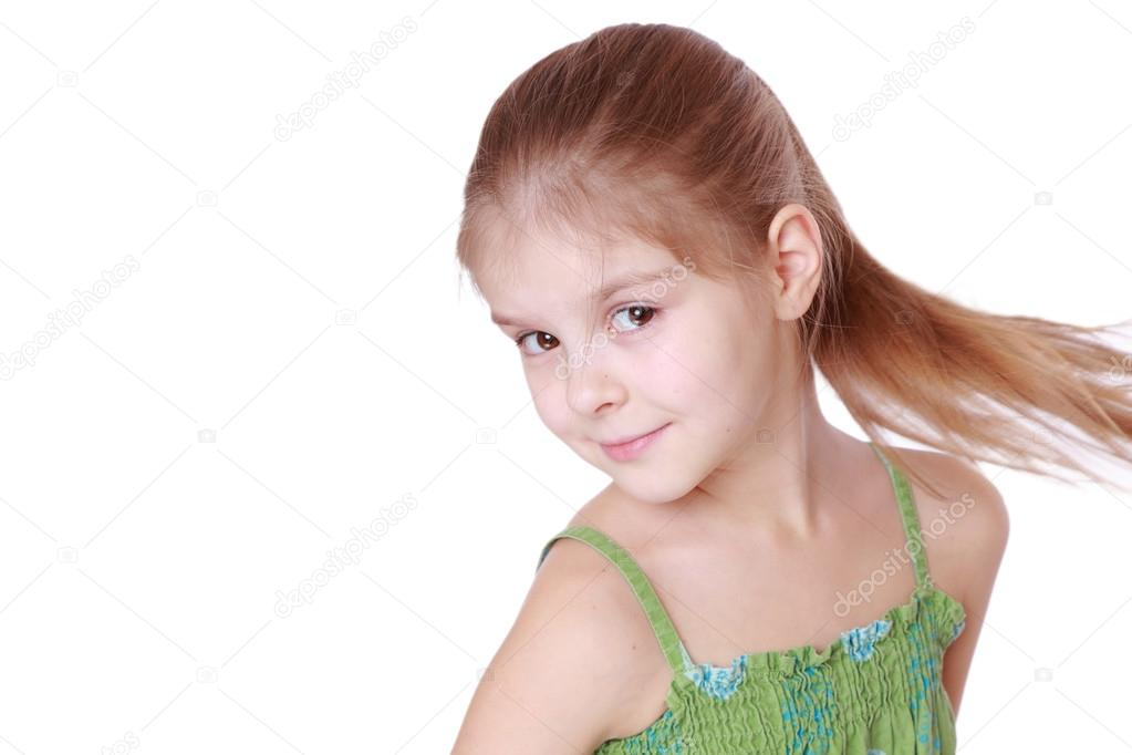 Excellent Cute Little Girl With Hairstyle Ponytails Stock Photo Schematic Wiring Diagrams Phreekkolirunnerswayorg