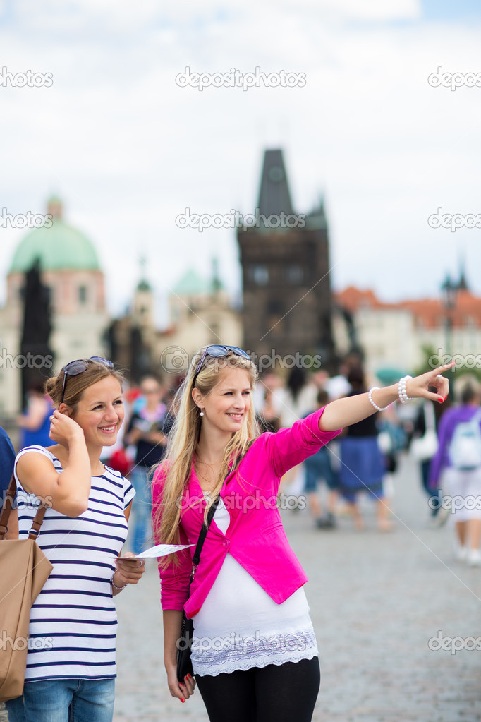 Two female tourists
