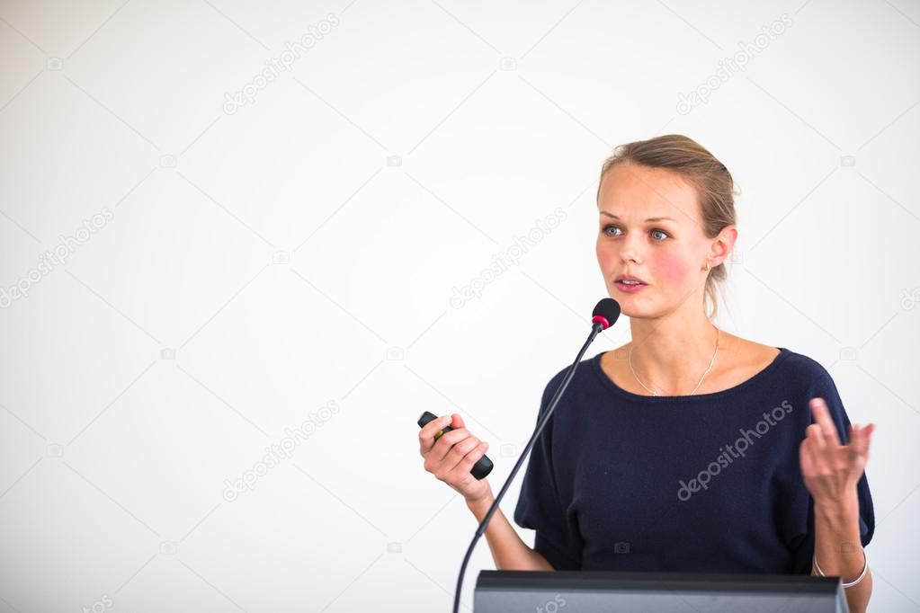 Business woman giving a presentation