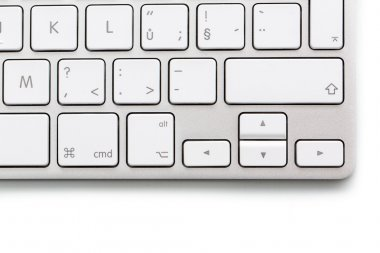 Modern keybord on white