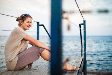 Woman at the seacoast
