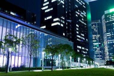 Hong Kong office at night