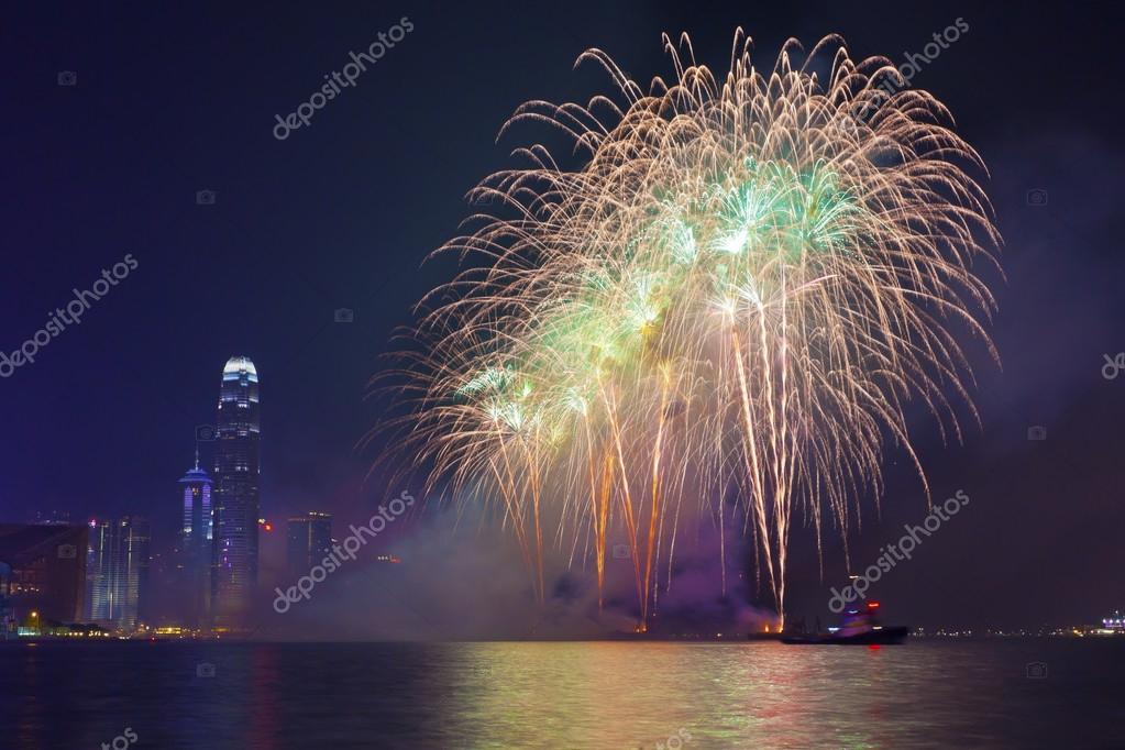 hong kong chinese new year fireworks 2014 stock photo 40083775 - Chinese New Year Fireworks