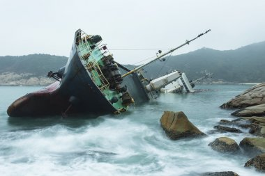 Wreck on the coast