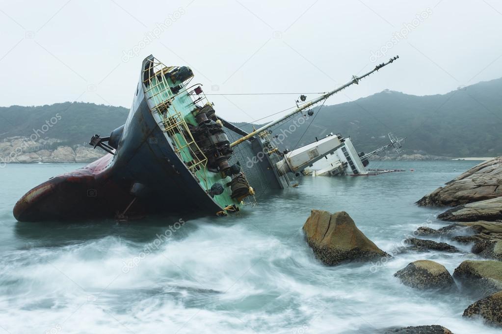 Wreck on the coast