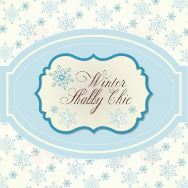 Winter background in Shabby Chic