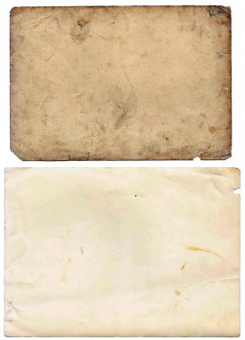 Set of various old paper sheets.