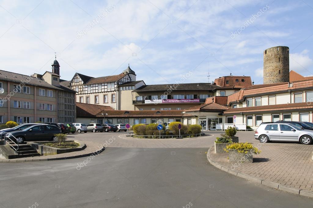 Stadt Fritzlar Hospital Zum Heiligen Geist Stockfoto Runzelkorn
