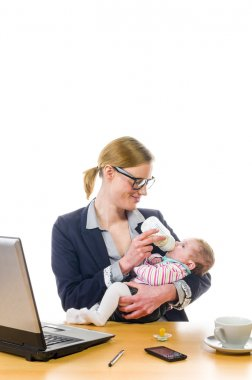 Feeding baby in office