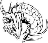 Fotografia tatuaggio testa di drago