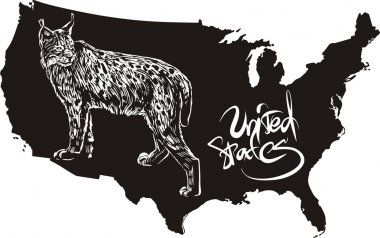 Lynx and U.S. outline map
