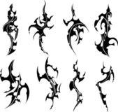Fotografia set di tatuaggi tribali