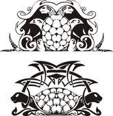 Fényképek Stilizált szimmetrikus matrica teknősök
