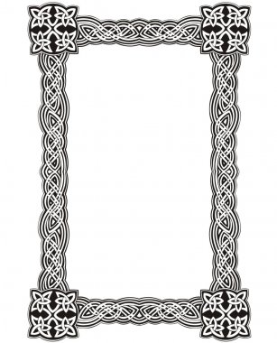 Celtic decorative knot frame