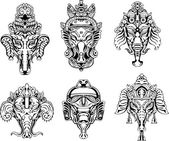 symetrický Ganéša masky