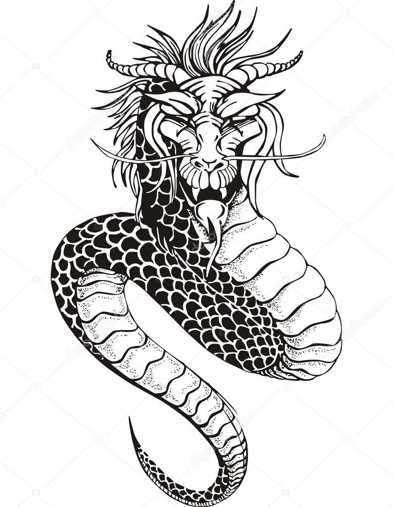 Serpiente Dragón Chino Vector De Stock Rorius 31891703