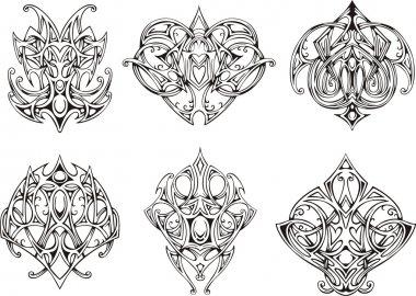 Symmetrical knot tattoo designs