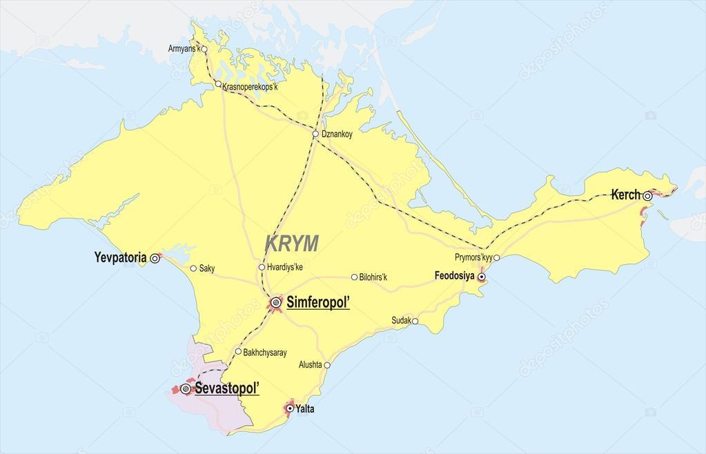 クリミア自治共和国の地図 — ス...