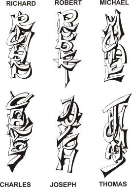 stylized male names