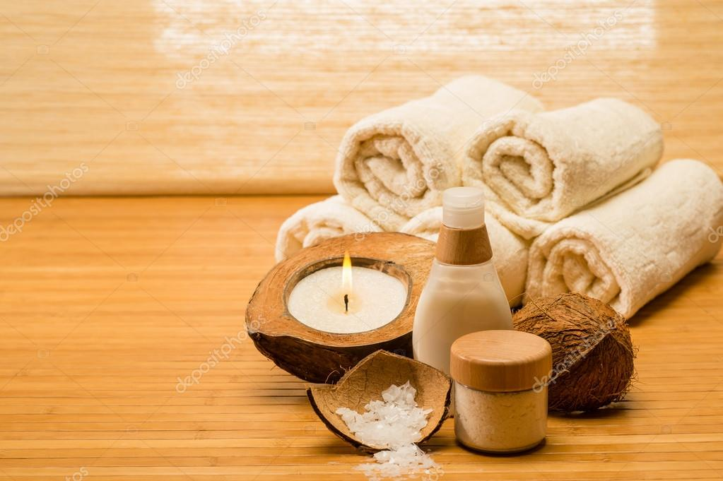 Coconut spa and beauty cosmetics