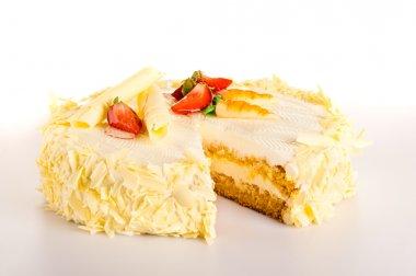 Carrot cake with white chocolate light dessert