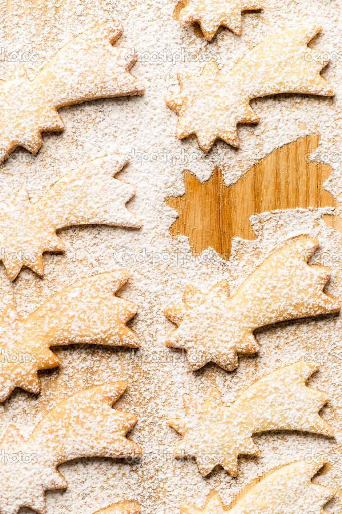 Dolci Stelle Di Natale.Cometa Di Natale Dolci Stelle Con Zucchero A Velo Foto