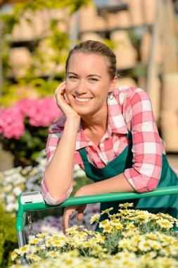 Garden worker with cart
