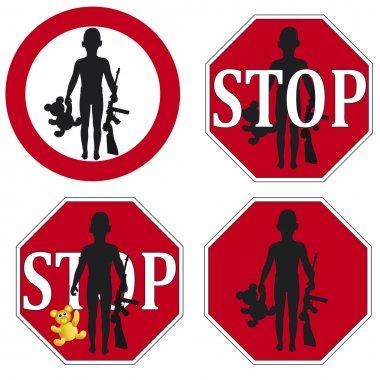 Stop the use of Child Soldier Set