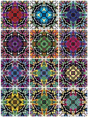 Set of seamless Native American vector patterns
