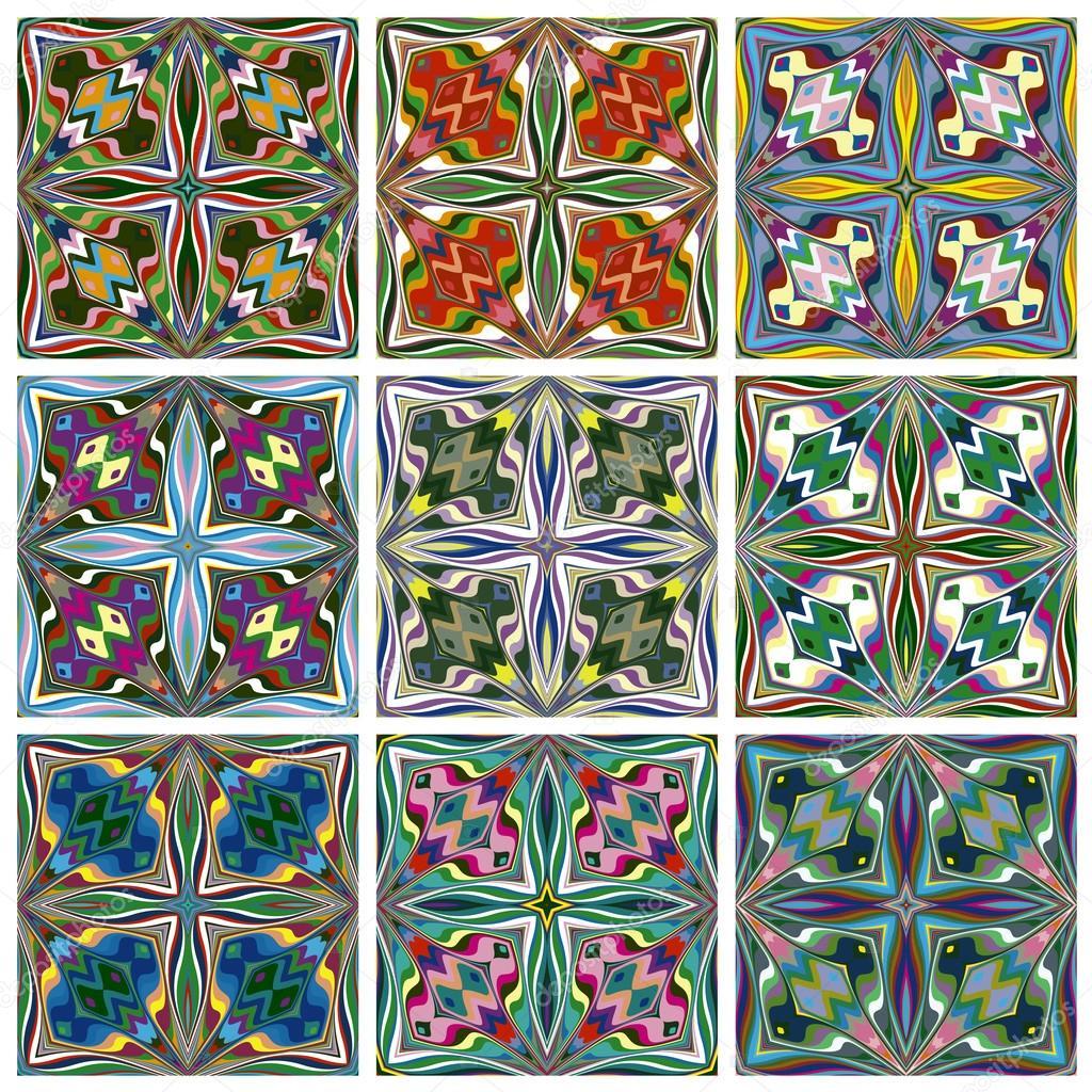 Ethno Muster ethno-muster — stockvektor © sangoiri #36032085