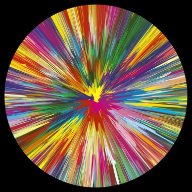 Color Explosion on black background