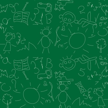 Seamless pattern on school board