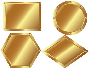 Set of gold metal plates 2