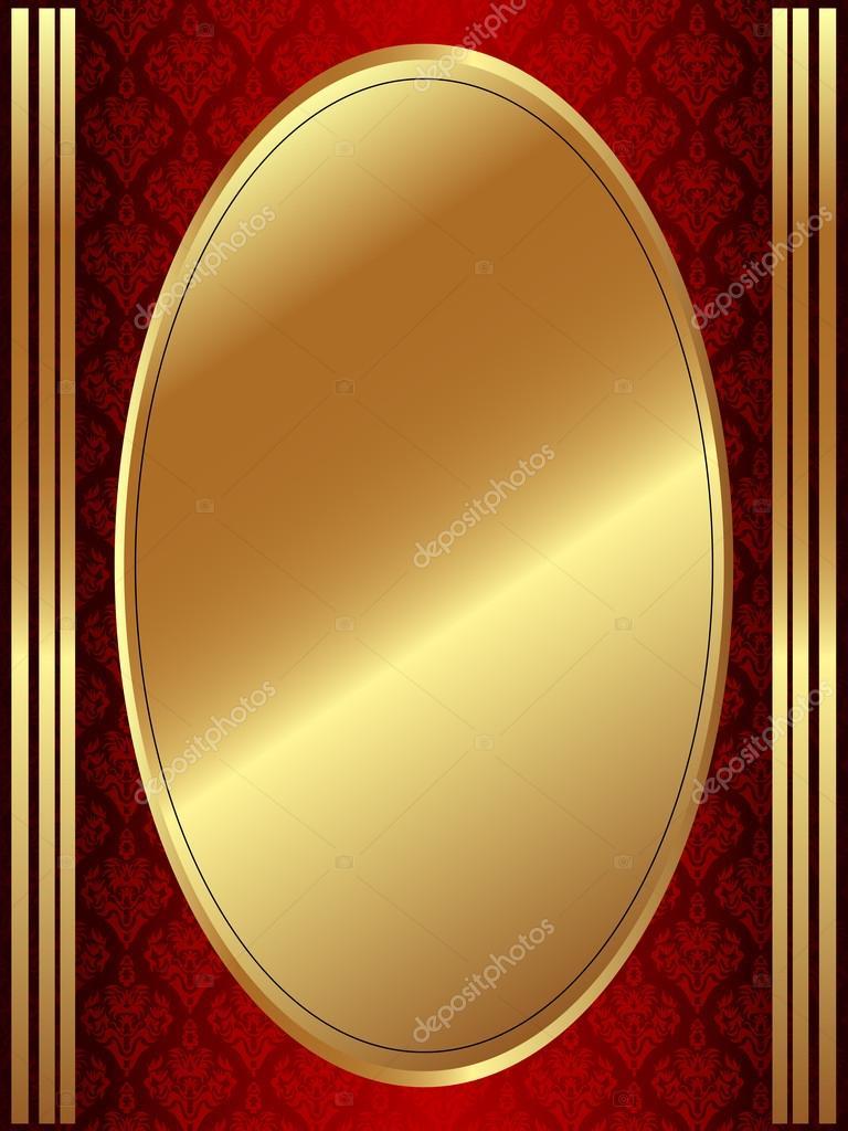 vertical marco oval dorado — Archivo Imágenes Vectoriales © Evgen79 ...