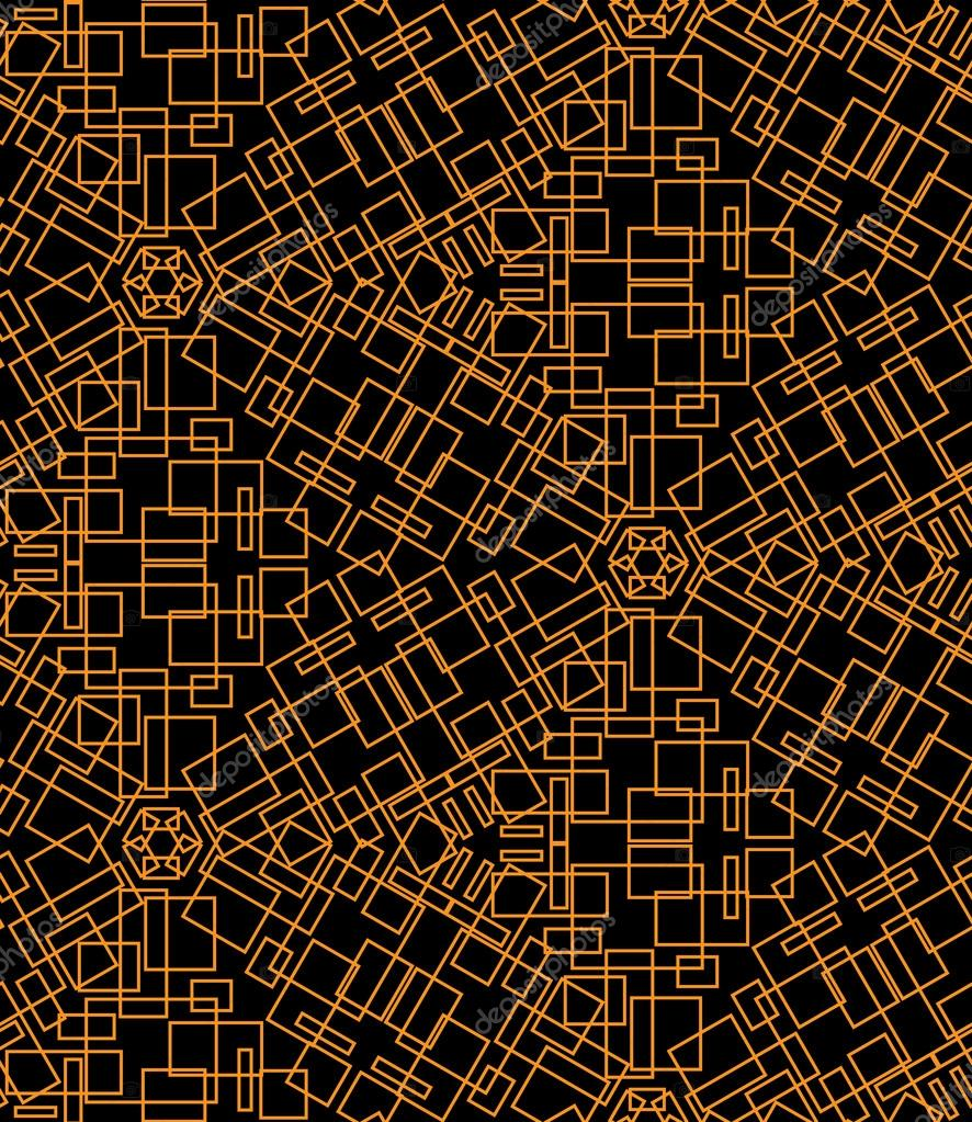 Abstract seamless pattern of yellow lines
