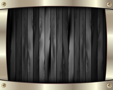 The metal frame on a dark wooden background 10