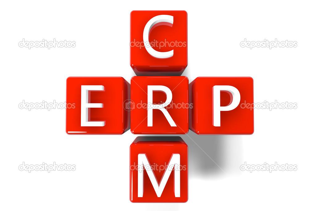 Crossword Crm Erp Stock Photo Mazirama 26540457