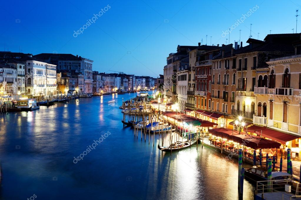 Grand Canal in Venice, Italy at sunset