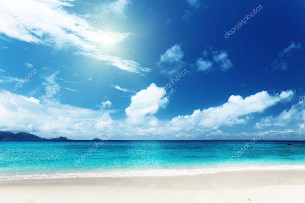 Beach of Mahe island, Seychelles