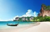 a Railay beach, Thaiföld krabi