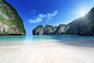 Morning time at Maya bay, Phi Phi Leh island,Thailand