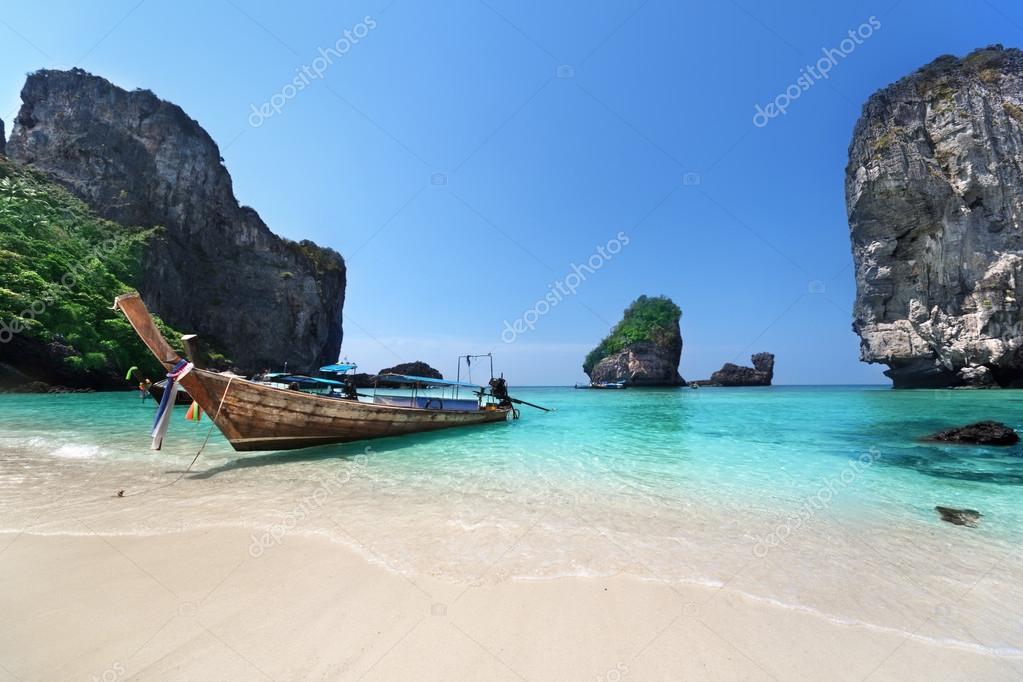 boat at Phi Phi island, Thailand