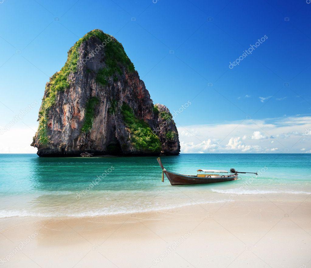 beach in Krabi province, Thailand