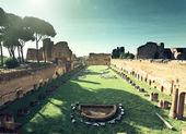 ruiny domitanus stadion na patrová hill v Římě, Itálie