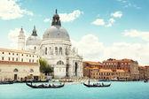 Fotografie Canal Grande und Basilika Santa Maria della Salute, Venedig, Italien