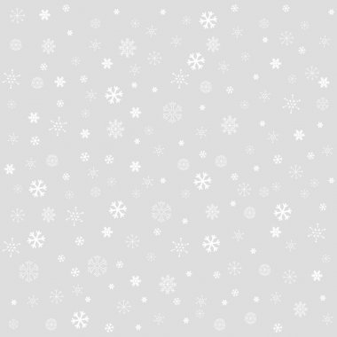 Decorative winter Christmas seamless texture with different line art snowflakes clip art vector
