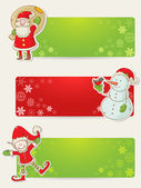 Photo Christmas stickers with santa, elf and snowman